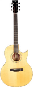 Musical Instruments:Acoustic Guitars, 1996 Webber Cutaway Natural Acoustic Guitar, Serial #4101596....