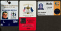 Miscellaneous Collectibles:General, 1999-2004 Ryder Cup Media Badges....