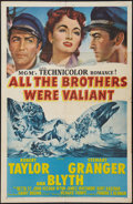 "Movie Posters:Adventure, All the Brothers Were Valiant (MGM, 1953). One Sheet (27"" X 41"").Adventure.. ..."