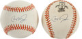 Baseball Collectibles:Balls, Cal Ripken Jr. Single Signed Baseballs Lot of 2....
