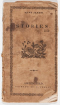 Books:Pamphlets & Tracts, [Anonymous]. Aunt Jane's Stories for Children. Greenfield[Massachusetts]: A. Phelps, nd, 26 pages, small pamphl...