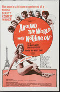"Movie Posters:Sexploitation, Around the World with Nothing On (Union Films, 1961). One Sheet(27"" X 41""). Sexploitation.. ..."