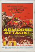 """Movie Posters:War, Armored Attack and Other Lot (NTA, 1957). One Sheets (2) (27"""" X41""""). War.. ... (Total: 2 Items)"""