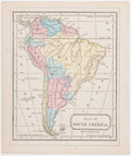 "Books:Maps & Atlases, Hand-Colored Map of South America, Circa 1871. 7"" x 8.5"", fromMitchell's New Primary Geography, Philadelphia: E. H. But..."