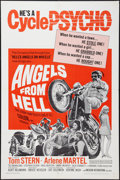 "Movie Posters:Exploitation, Angels from Hell (American International, 1968). One Sheet (27"" X41""). Exploitation.. ..."
