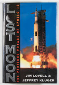 Books:Biography & Memoir, [Apollo 13]. Jim Lovell and Jeffrey Kluger. INSCRIBED BY LOVELL.Lost Moon [Apollo 13]. Boston: Houghton Mifflin, [1...