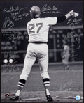 Baseball Collectibles:Photos, 1975 Boston Red Sox Team Signed Oversized Photograph. ...