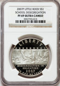 Modern Issues, 2007-P $1 Little Rock PR69 Ultra Cameo NGC. NGC Census:(1429/1535). PCGS Population (1341/414). Numismedia Wsl. Pricefor...