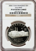 Modern Issues, 2006-S $1 San Francisco Old Mint PR69 Ultra Cameo NGC. NGC Census:(6297/1825). PCGS Population (3868/342). Numismedia Wsl...