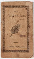 """Books:Pamphlets & Tracts, [Anonymous]. The Seasons. Northampton [Massachusetts]: J.Metcalf, 1840, small pamphlet format, 2"""" x 3"""", printed..."""