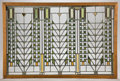 Decorative Arts, American, A FRANK LLOYD WRIGHT (AMERICAN 1867-1959) LEADED GLASS WINDOW FROMTHE DARWIN D. MARTIN HOUSE, BUFFALO, NEW YORK . Produced ...