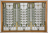 A FRANK LLOYD WRIGHT (AMERICAN 1867-1959) LEADED GLASS WINDOW FROM THE DARWIN D. MARTIN HOUSE, BUFFALO, NEW YORK