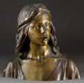Paintings, A PATINATED BRONZE BUST AFTER RAOUL LARCHE (FRENCH, 1860-1912): THE YOUNG JESUS . Circa 1900. Marks: RAOUL LARCHE,...