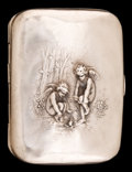 Silver Smalls:Cigarette Cases, AN UNGER SILVER CIGARETTE CASE . Unger Bros., Newark, New Jersey,circa 1900. Marks: UB (conjoined), STERLING 925FINE...