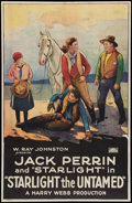 """Movie Posters:Western, Starlight, the Untamed (Rayart Pictures, 1925). One Sheet (27"""" X 41""""). Western.. ..."""