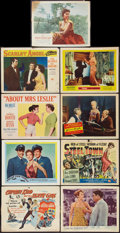 "Movie Posters:Adventure, Captain Kidd and the Slave Girl and Others Lot (United Artists,1954). Title Lobby Cards (2) and Lobby Cards (7) (11"" X 14"")...(Total: 9 Items)"