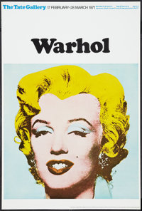 "Andy Warhol Exhibition Poster (Tate Gallery, 1971). British Poster (20"" X 30""). Exploitation"
