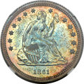 Proof Seated Quarters, 1861 25C PR65 NGC....