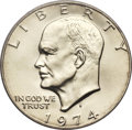 Eisenhower Dollars, 1974-S $1 Silver MS69 PCGS....