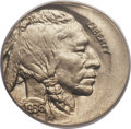 Errors, 1936 5C Buffalo Nickel -- Struck 15% Off Center -- MS64 PCGS....