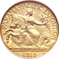 Commemorative Gold, 1915-S $2 1/2 Panama-Pacific Quarter Eagle MS63 NGC....