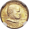 Commemorative Gold, 1922 G$1 Grant No Star MS67 NGC. CAC....