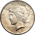 Peace Dollars, 1927-S $1 MS65 PCGS....