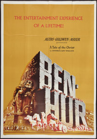 "Ben-Hur (MGM, 1959). Partial Three Sheet (42"" X 60""). Academy Award Winners"