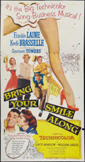 """Movie Posters:Musical, Bring Your Smile Along & Other Lot (Columbia, 1955). Three Sheets (2) (41"""" X 81""""). Musical.. ... (Total: 2 Items)"""