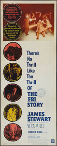 "Movie Posters:Crime, The FBI Story (Warner Brothers, 1959). Insert (14"" X 36""). Crime....."