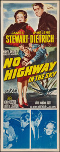 "Movie Posters:Drama, No Highway in the Sky (20th Century Fox, 1951). Insert (14"" X 36"").Drama.. ..."