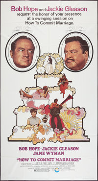 """How to Commit Marriage and Other Lot (Cinerama Releasing, 1969). Three Sheets (2) (41"""" X 81""""). Comedy. ... (To..."""