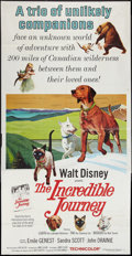 "Movie Posters:Adventure, The Incredible Journey & Other Lot (Buena Vista, 1963). ThreeSheets (2) (41"" X 81""). Adventure.. ... (Total: 2 Items)"