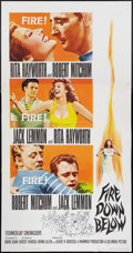 "Movie Posters:Adventure, Fire Down Below (Columbia, 1957). Three Sheet (41"" X 81"").Adventure.. ..."