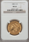 Liberty Eagles, 1888 $10 MS62 NGC....