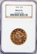 Liberty Eagles, 1902 $10 MS62 Prooflike NGC....