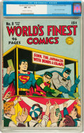 Golden Age (1938-1955):Superhero, World's Finest Comics #8 (DC, 1942) CGC NM- 9.2 Off-white to white pages....