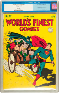 World's Finest Comics #17 (DC, 1945) CGC VF/NM 9.0 White pages