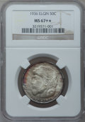 Commemorative Silver, 1936 50C Elgin MS67+ ★ NGC....