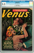 Golden Age (1938-1955):Horror, Venus #19 (Atlas, 1952) CGC FN- 5.5 Cream to off-white pages....