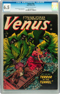 Golden Age (1938-1955):Horror, Venus #18 (Atlas, 1952) CGC FN+ 6.5 Cream to off-white pages....