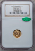 Commemorative Gold, 1922 G$1 Grant No Star MS65 NGC. CAC....