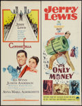 """Movie Posters:Comedy, Cinderfella and Other Lot (Paramount, 1960). Inserts (2) (14"""" X36""""). Comedy.. ... (Total: 2 Items)"""