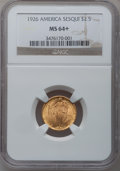 Commemorative Gold, 1926 $2 1/2 Sesquicentennial MS64+ NGC....