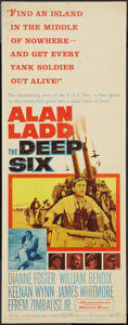 "Movie Posters:War, The Deep Six (Warner Brothers, 1958). Insert (14"" X 36""). War.. ..."