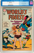 Silver Age (1956-1969):Superhero, World's Finest Comics #102 (DC, 1959) CGC NM 9.4 Cream to off-white pages....