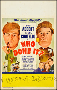 """Who Done It? (Universal, 1942). Window Card (14"""" X 22""""). Comedy"""