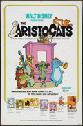 "Movie Posters:Animated, The Aristocats (Buena Vista, 1970). One Sheet (27"" X 41"").Animated.. ..."