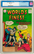Silver Age (1956-1969):Superhero, World's Finest Comics #136 (DC, 1963) CGC NM+ 9.6 White pages....