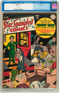 Star Spangled Comics #14 Rockford pedigree (DC, 1942) CGC NM- 9.2 Off-white pages